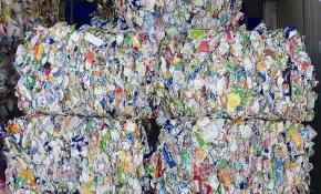Bales of recycling