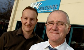 Falconer Print & Packaging's Richard Martin, production director, and Hadyn Bradbury