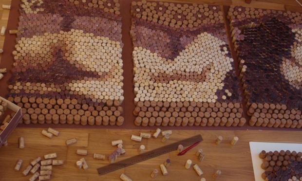Cork art recycling by Conrad Engelhardt