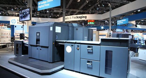 HP Indigo 30000 Digital Press at drupa mn