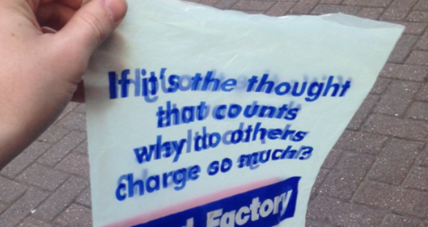 Card Factory Carrier Bags